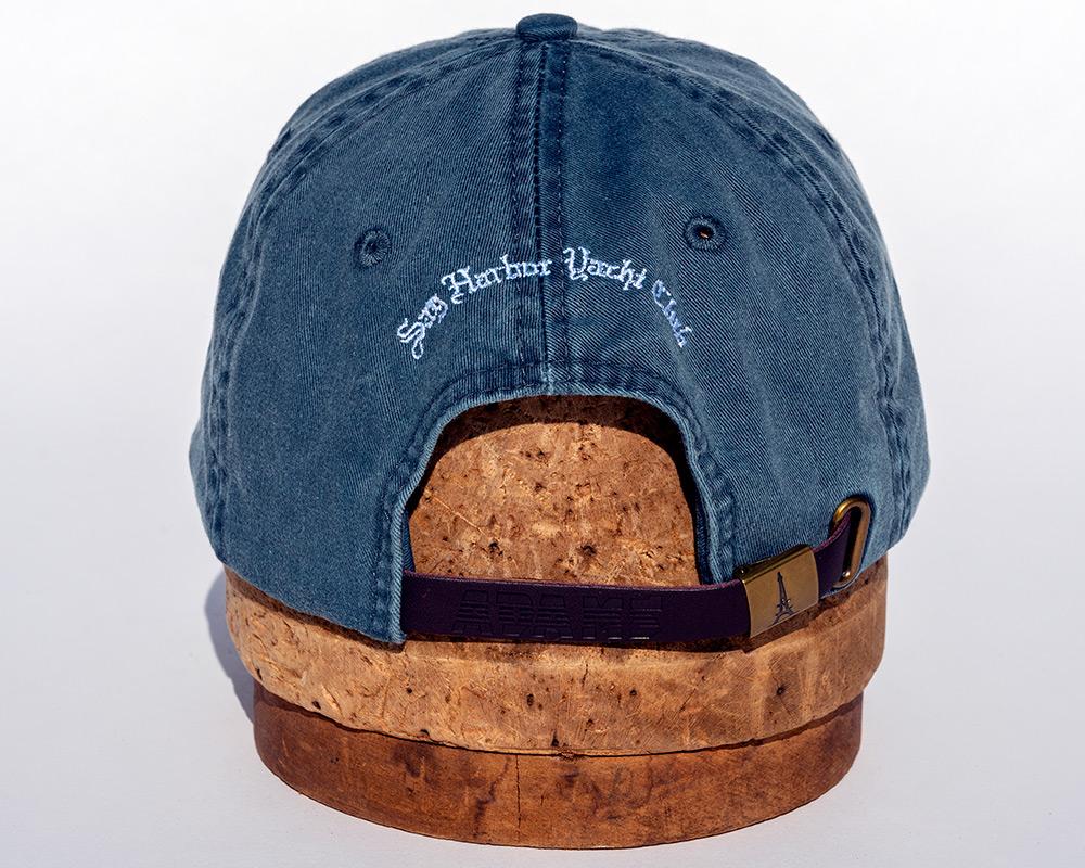 Denim blue back view